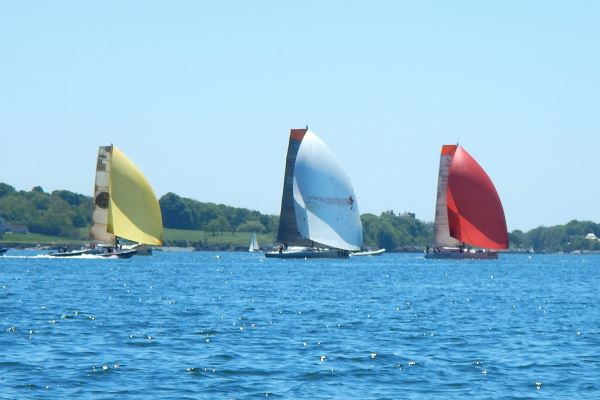 Sailboats with Spinnakers
